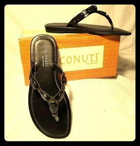 Coconuts Black bead sandals